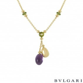 Bvlgari Yellow Gold Multi-Gemstone Mediterranean Eden Necklace